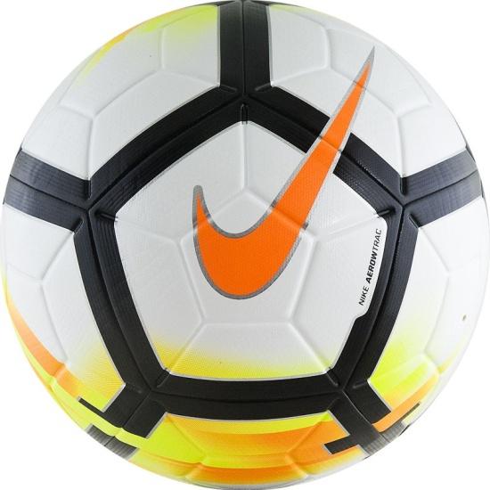 Мяч футбольный NIKE Ordem V PL, размер 5, бело-желто-оранжево-черный ... 3fdab0e689f