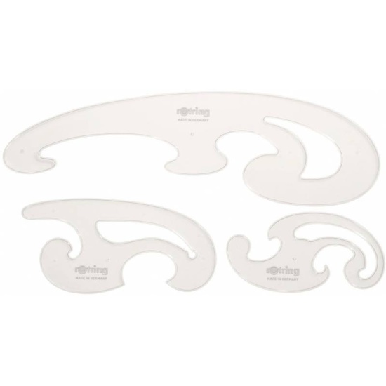 acd82d468 Набор лекал Rotring Centro Burmester Curves S0221301 пластик - купить в интернет  магазине с доставкой,