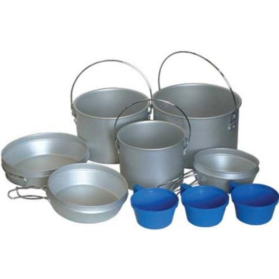Набор посуды Tramp TRC-002 алюминий (3 котелка, 3 сковородки и 3 плошки) - купить с доставкой по России, цены, описание, характеристики, отзывы.