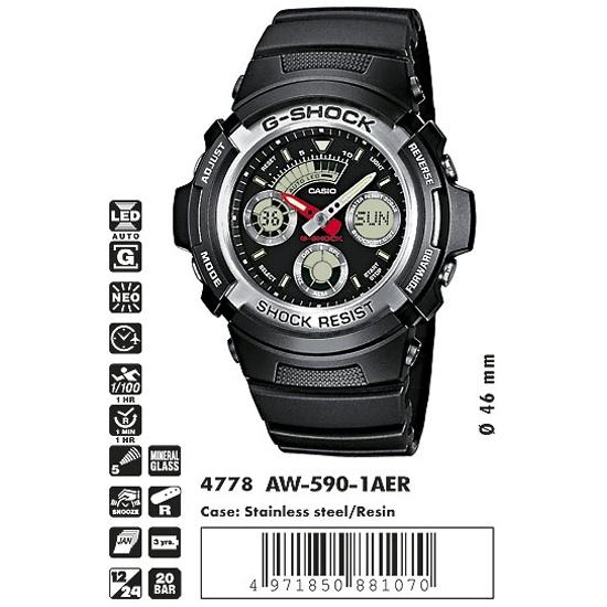 Наручные часы CASIO AW-590-1A- купить по выгодной цене в интернет-магазине ОНЛАЙН ТРЕЙД.РУ Санкт-Петербург