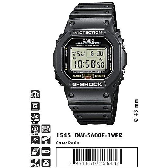 Наручные часы CASIO DW-5600E-1V — купить в интернет-магазине ОНЛАЙН ТРЕЙД.РУ