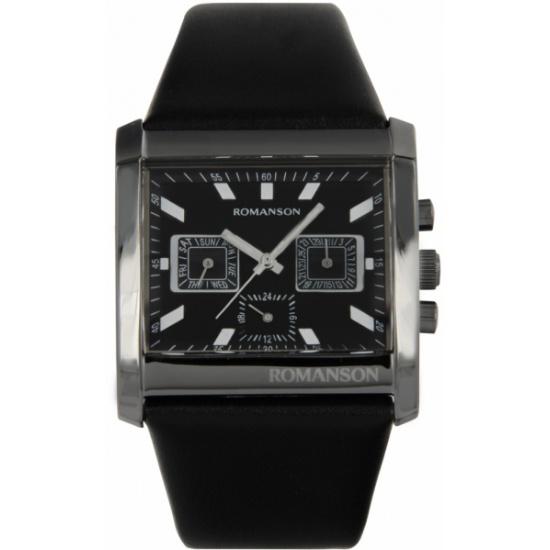 827610638053 Наручные часы ROMANSON DL6134MM1BA37W (DL6134 MB BK), мужские - купить в  интернет магазине