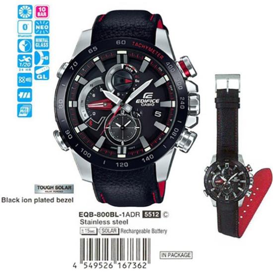 74bbff2ad64d Наручные часы CASIO EQB-800BL-1A - купить в интернет магазине с доставкой,
