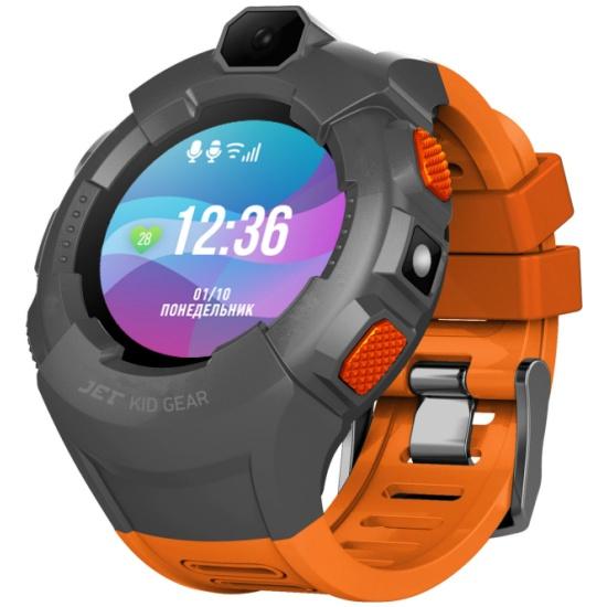 Детские умные часы Jet Kid Gear оранжевый+серый — купить в интернет-магазине ОНЛАЙН ТРЕЙД.РУ