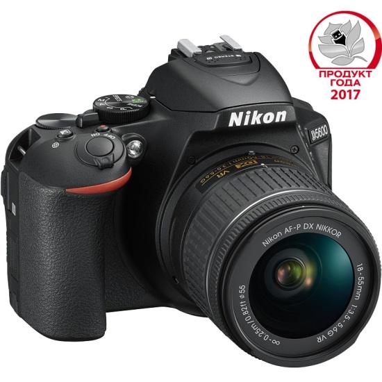 Цифровой зеркальный фотоаппарат Nikon D5600 Kit 18-55 VR AF-P Black — купить в интернет-магазине ОНЛАЙН ТРЕЙД.РУ