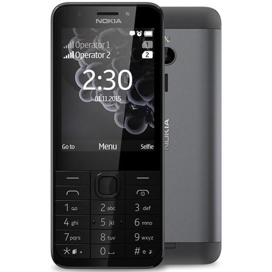 fe2d522afa59b Мобильный телефон Nokia 230 Dual Sim Dark Silver - купить в интернет  магазине с доставкой,