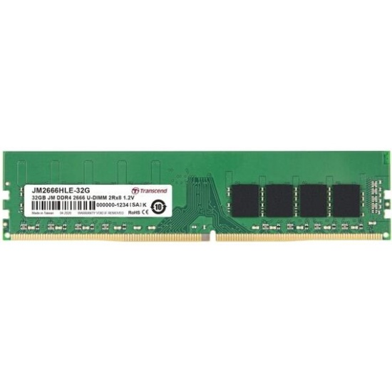 Оперативная память Transcend DDR4 32Gb 2666MHz pc-21300 (JM2666HLE-32G) — купить в интернет-магазине ОНЛАЙН ТРЕЙД.РУ