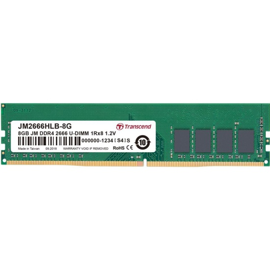 Оперативная память Transcend DDR4 8Gb 2666MHz pc-21300 (JM2666HLB-8G) — купить в интернет-магазине ОНЛАЙН ТРЕЙД.РУ