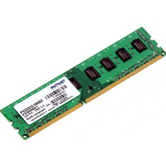 Оперативная память Patriot DDR3 2Gb 1600MHz pc-12800 (PSD32G160081) — купить в интернет-магазине ОНЛАЙН ТРЕЙД.РУ