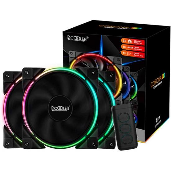 Вентилятор для корпуса PCCooler CORONA FRGB (3 in 1) 120x120x25мм