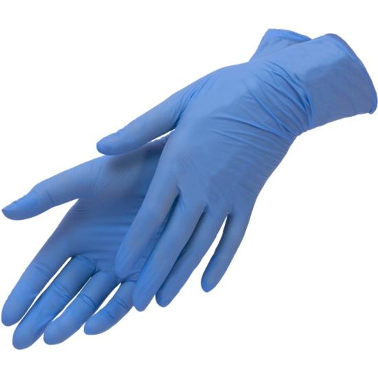 Перчатки нитриловые PLANET NAILS голубые, M, 100 шт