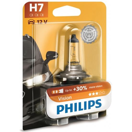 Лампа галогенная PHILIPS H7 3200K Vision +30%, 12V 55W, 1 шт., 12972PRB1 — купить в интернет-магазине ОНЛАЙН ТРЕЙД.РУ
