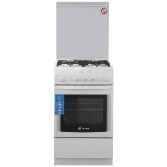 Плита газовая DeLuxe 506040.11г(кр)чр белый — купить в интернет-магазине ОНЛАЙН ТРЕЙД.РУ