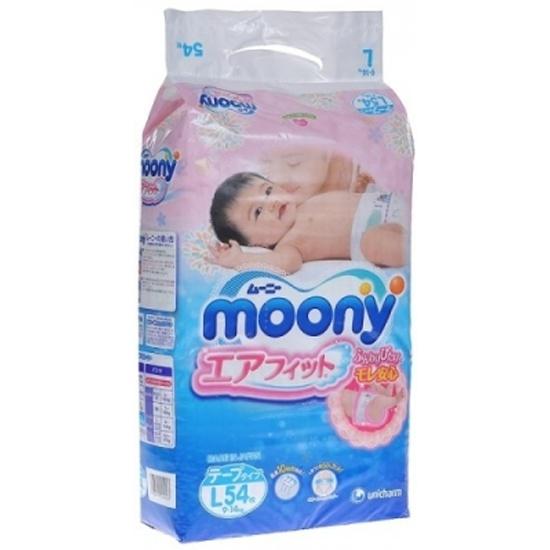 Подгузники Moony размер L, 9-14 кг, 54 шт (Уценка - УП1) — купить в ... 8f366f0439a