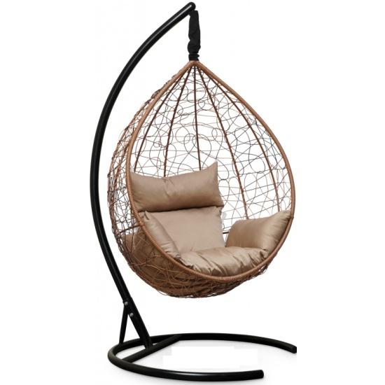 Подвесное кресло LAURA SEVILLA горячий шоколад + бежевая подушка - купить в интернет магазине с доставкой, цены, описание, характеристики, отзывы