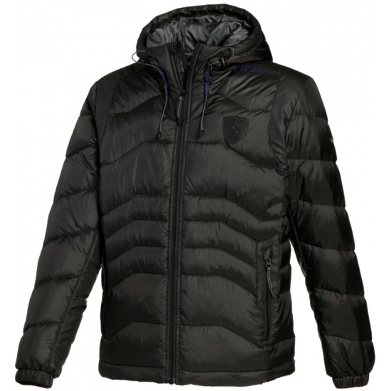 4b1db24a33689 Пуховик PUMA Ferrari Down Jacket black, мужской, размер 44-46 (S ...
