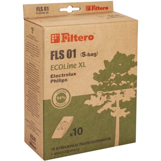 Пылесборник Filtero FLS 01 ECOLine XL бумажные (10 шт.) + фильтр, для пылесосов Electrolux, Philips — купить в интернет-магазине ОНЛАЙН ТРЕЙД.РУ