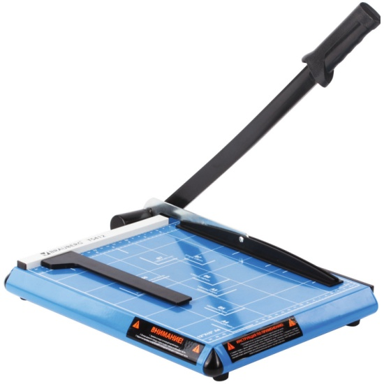 Резак сабельный Brauberg Saber TS412, A4, 12 л, металлическая основа, длина реза 300 мм — купить в интернет-магазине ОНЛАЙН ТРЕЙД.РУ