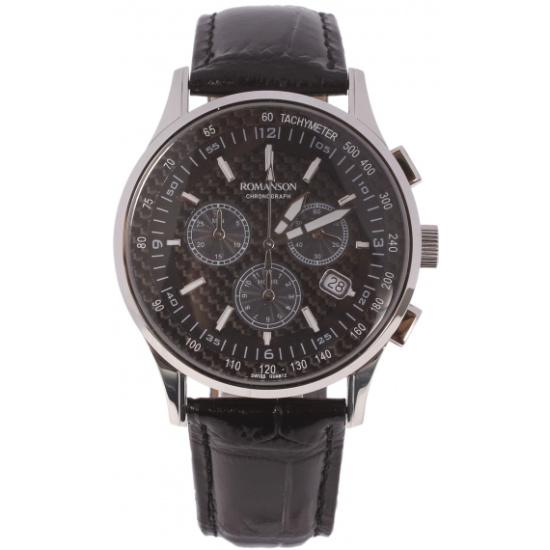 03b694862f05 Наручные часы ROMANSON TL4131PM1WA32W (TL4131P MW BK), мужские ...