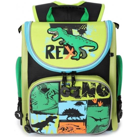 61b008cece4c Рюкзак школьный Grizzly RA-970-5/1 черный-зеленый — купить в ...