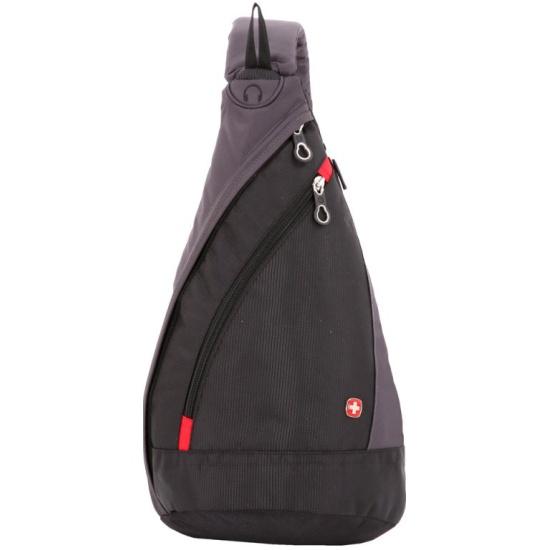 Рюкзак SWISSGEAR с одним плечевым ремнем, черный/серый, 7 л — купить в интернет-магазине ОНЛАЙН ТРЕЙД.РУ