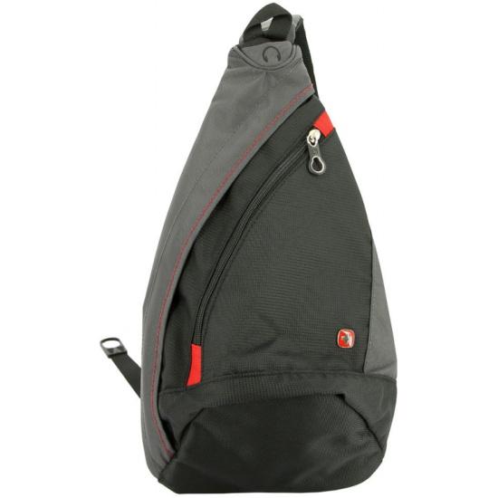 51b9af656be0 Рюкзак WENGER 1092230 MONO SLING, черный/серый - купить в интернет магазине  с доставкой