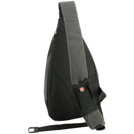 aec4e19ae7f7 Рюкзак WENGER 1092230 MONO SLING, черный/серый Изображение 2 - купить в  интернет магазине