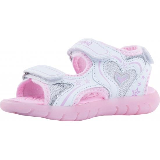 386441b9e Сандалии КОТОФЕЙ 324015-13 для девочки, цвет серебристый/розовый, рус.размер