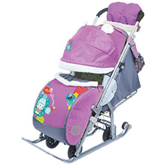 Санки-коляска Ника детям 7-2 (Коллаж-снеговик Орхидея) — купить в ... fe936962f19