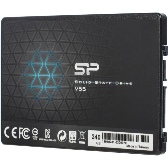 SSD диск SILICON POWER 2.5 Slim S55 240 Гб SATA III TLC SP240GBSS3S55S25 — купить в интернет-магазине ОНЛАЙН ТРЕЙД.РУ