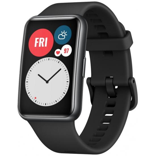 Смарт-часы Huawei Watch Fit Graphite Black 55025871 - низкая цена, доставка или самовывоз по Самаре. Смарт-часы Хуавей Watch Fit Graphite Black купить в интернет магазине ОНЛАЙН ТРЕЙД.РУ.