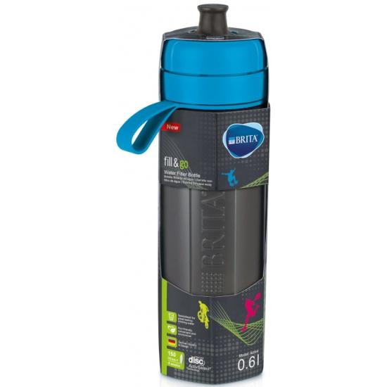 Спортивная фильтр-бутылка BRITA Fill&Go Active, 1 фильтр-диск в комплекте, голубая 0.6л — купить в интернет-магазине ОНЛАЙН ТРЕЙД.РУ