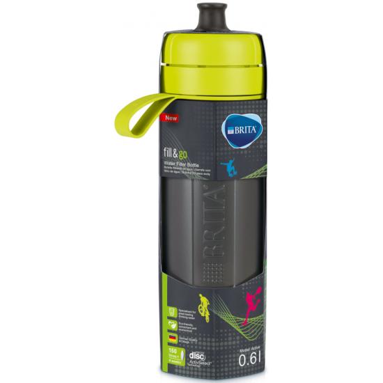 Спортивная фильтр-бутылка BRITA Fill&Go Active, 1 фильтр-диск в комплекте, лайм 0.6л — купить в интернет-магазине ОНЛАЙН ТРЕЙД.РУ