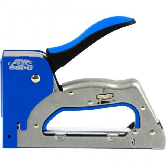Степлер мебельный БАРС 40004, металлический, 3 в 1, регул. удара, двухкомп. рукоятка,тип скобы 53, 300, 500, 6-14мм — купить в интернет-магазине ОНЛАЙН ТРЕЙД.РУ