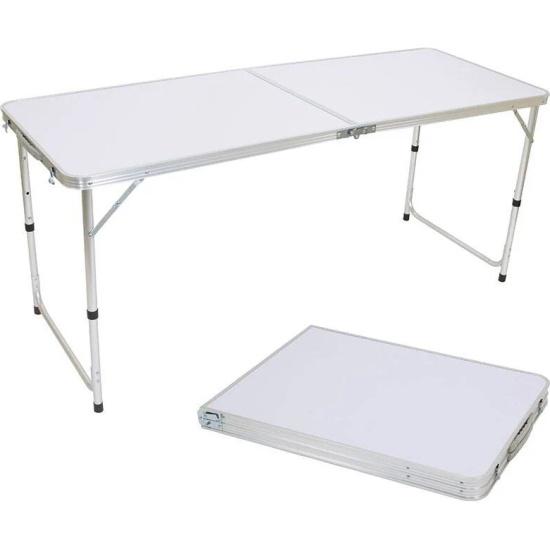 Стол складной Ecos TD-06 (160*60*70 см) алюминий+мдф 993082 - низкая цена, доставка или самовывоз по Твери. Стол складной Ecos TD-06 (160*60*70 см) алюминий+мдф купить в интернет магазине ОНЛАЙН ТРЕЙД.РУ.