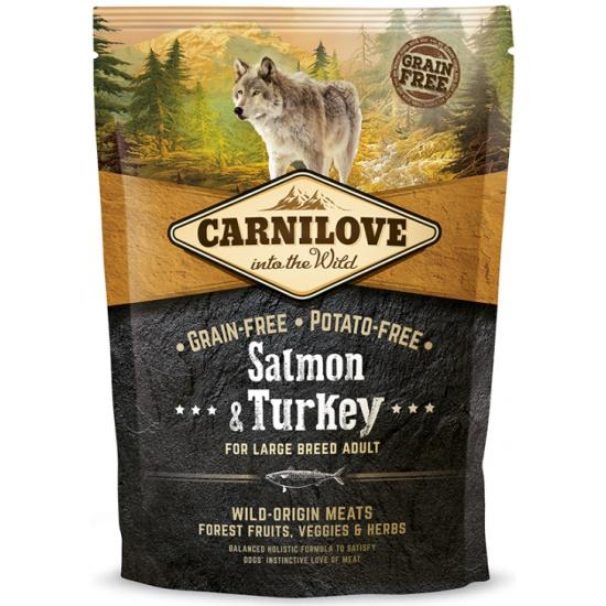 <b>Сухой</b> беззерновой <b>корм</b> Carnilove Salmon & Turkey for Large ...