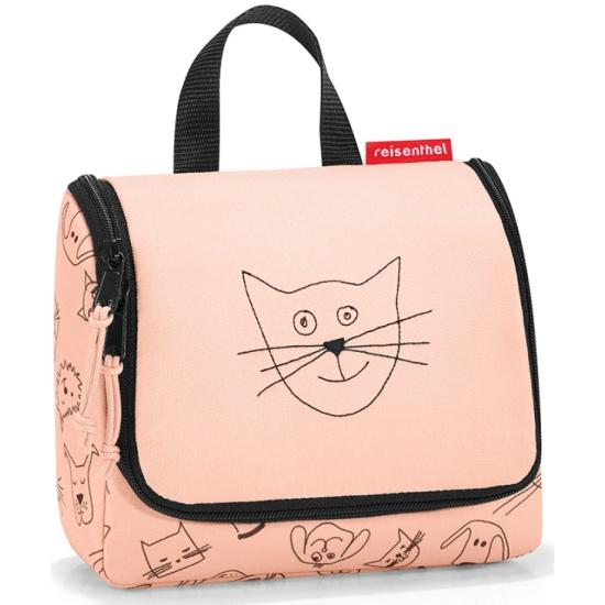a89932cd7025 Сумка-органайзер для детей REISENTHEL Toiletbag S Cats and Dogs  rose/розовый - купить
