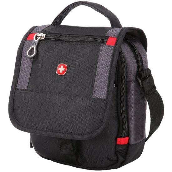 Мужская сумка через плечо SWISSGEAR SA1092239 черный/серый — купить в интернет-магазине ОНЛАЙН ТРЕЙД.РУ