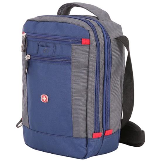 08269991f30a Мужская сумка через плечо WENGER 1092343004, синий/серый - купить в  интернет магазине с
