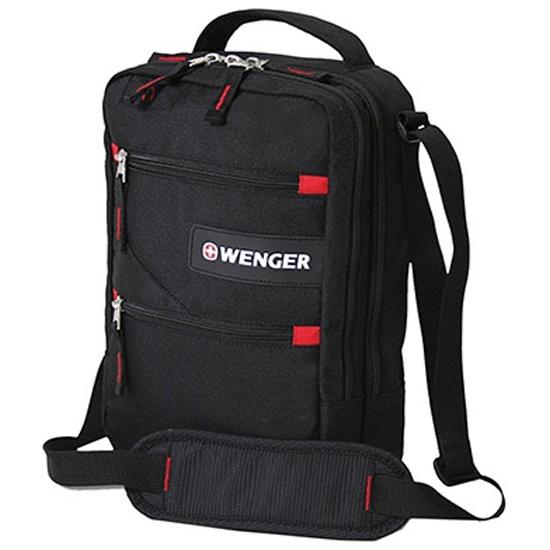 1f608f51a661 Мужская сумка через плечо WENGER 18262166 Mini Vertical Boarding Bag,  черный/красный — купить в интернет-магазине ОНЛАЙН ТРЕЙД.РУ
