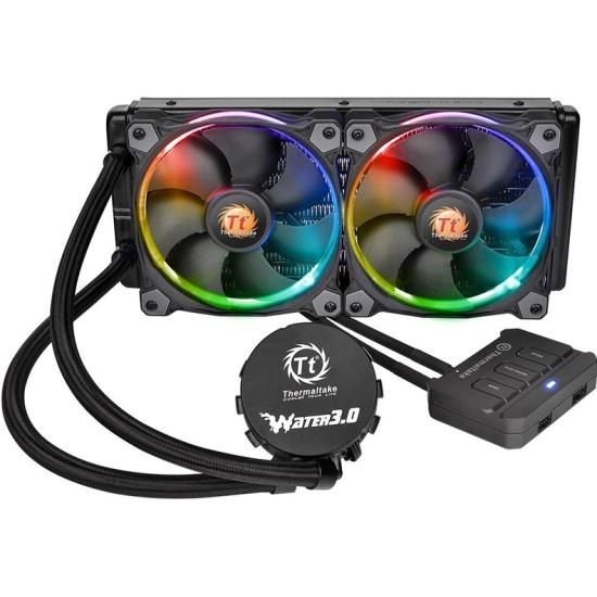 СВО для процессора Thermaltake Water 3.0 Riing RGB 240 (CL-W107-PL12SW-A) — купить в интернет-магазине ОНЛАЙН ТРЕЙД.РУ