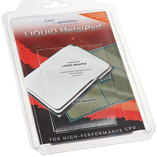 Термоинтерфейс Coollaboratory Liquid MetalPad High Performance 1xCPU (для процессоров SP3/TR4/3647) CL-MP-1C-HP — купить в интернет-магазине ОНЛАЙН ТРЕЙД.РУ