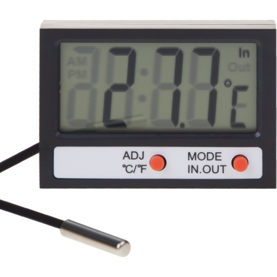 Термометр электронный REXANT комнатно-уличный с часами — купить в интернет-магазине ОНЛАЙН ТРЕЙД.РУ