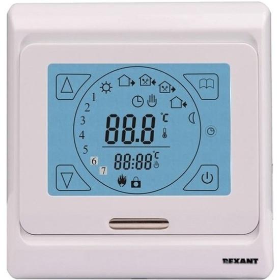 Терморегулятор REXANT 51-0533 с автоматическим программированием (R91XT) Изображение 1 - купить в интернет магазине с доставкой, цены, описание, характеристики, отзывы