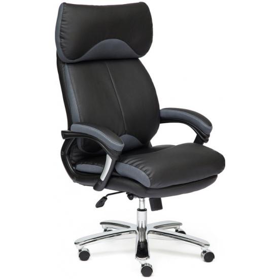Кресло руководителя TETCHAIR GRAND кож/зам/ткань, черный/серый, 36-6/12 id12393 - купить по выгодной цене в интернет-магазине ОНЛАЙН ТРЕЙД.РУ Рязань