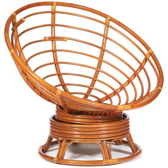 Кресло-качалка TETCHAIR PAPASAN без подушки, коньяк- купить по выгодной цене в интернет-магазине ОНЛАЙН ТРЕЙД.РУ Уфа