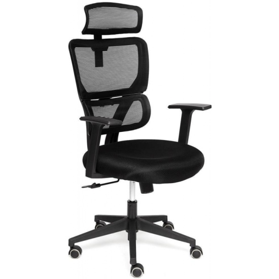 Кресло руководителя TETCHAIR MESH-5, ткань, черный - купить с доставкой по России, цены, описание, характеристики, отзывы.