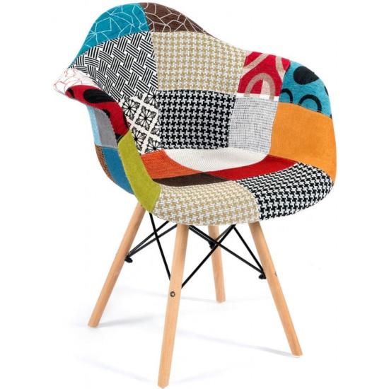 Кресло TETCHAIR Secret De Maison CINDY SOFT (EAMES) (mod. 101) дерево береза/металл/мягкое сиденье/ткань, мультицвет id13191 - купить по выгодной цене в интернет-магазине ОНЛАЙН ТРЕЙД.РУ Уфа