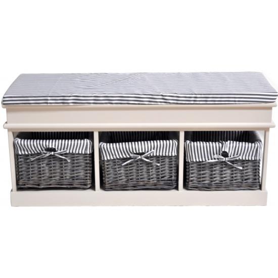 Обувница с 3-я корзинами и ящиком Secret De Maison SEIGESH-82301 с ящиком, ткань , (белый) id9746 - купить по выгодной цене в интернет-магазине ОНЛАЙН ТРЕЙД.РУ Уфа