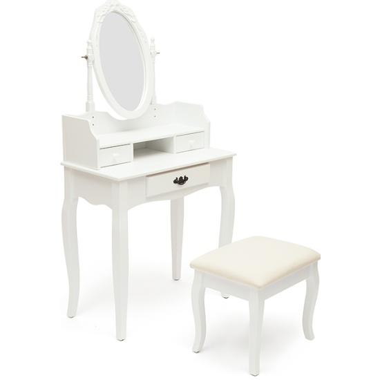 Столик туалетный с пуфом Tetchair NY-V3024 Белый (White) id9829 - купить по выгодной цене в интернет-магазине ОНЛАЙН ТРЕЙД.РУ Уфа